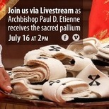 Archbishop Etienne Invested with the Pallium