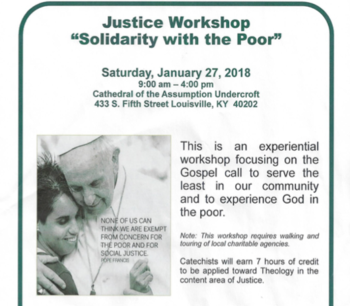 Justice Workshop - Solidarity With The Poor