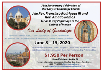8 DAY pilgrimage to the Shrines of Mexico