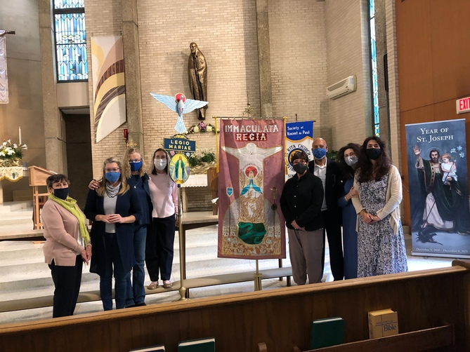Our Lady of the Cenacle Praesidium Members and Auxiliary Members at the 2021 Acies