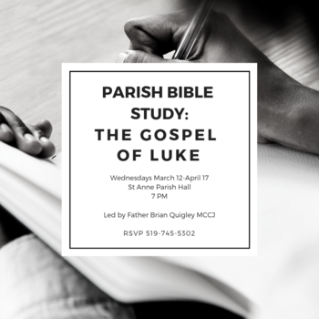 Lent Bible Study on the Gospel of Luke