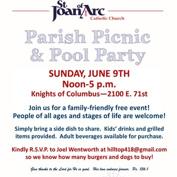 Parish Picnic & Pool Party - Canceled