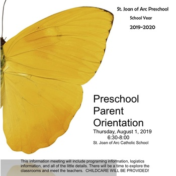 Preschool Parent Orientation