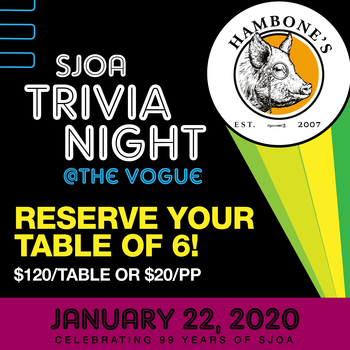 SJOA Trivia Night @ The Vogue