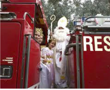 St. Nick is coming - on a Fire Truck!