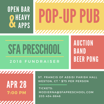 Pop-Up Pub Preschool Fundraiser