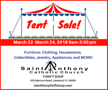 Thrift Shop Tent Sale
