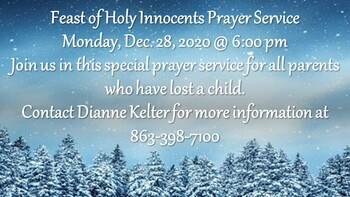 Feast of Holy Innocents Prayer Service