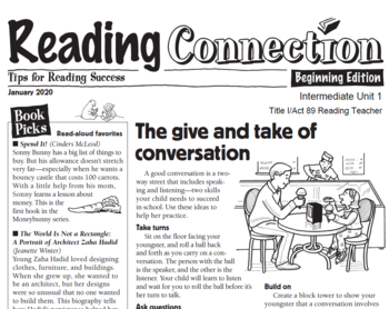 Reading Connection News!