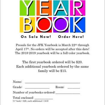 Yearbook is on sale!