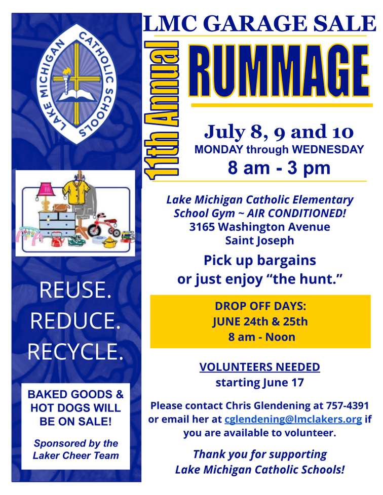 Rummage Sale - Lake Michigan Catholic Schools - Saint Joseph, MI