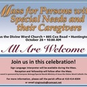 Mass for Persons with Special Needs and their Caregivers