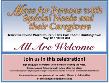 Mass for Persons with Special Needs and Caregivers