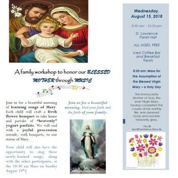 Songs & Stems of Mary, Our Mother