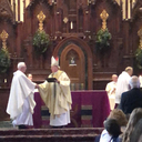 """Gospel of Life"" Presented to Msgr. Sullivan"