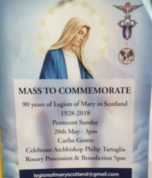 90 Years of Legion of Mary in Scotland - Carfin Grotto
