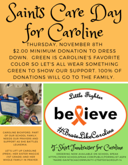 Prayers and Support for Caroline