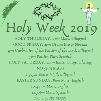 Holy Thursday Mass, Bilingual