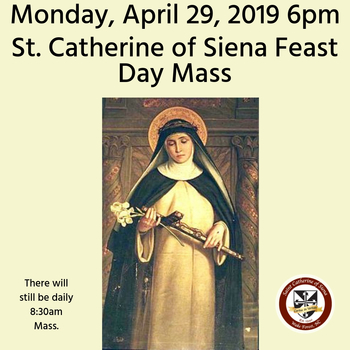 St. Catherine of Siena Patroness Mass