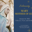 Solemnity of Mary, Mother of God Masses