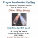 Prayer Service for Healing: Sunday April 8th