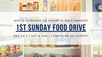 1st Sunday Food Drive