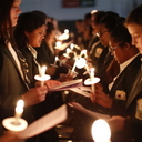 """Big Sisters Shine """"Candlelight"""" on Cabrini with Little Sisters"""