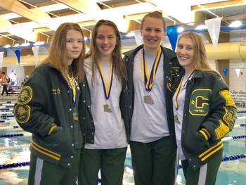 Relay Swim Team is Back-to-Back State Champs