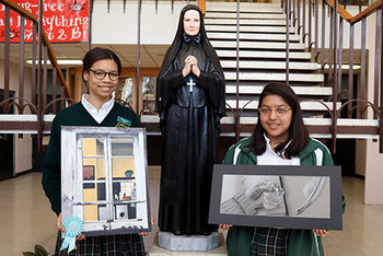 Cabrini Students Take Two Honorable Mentions at State Rally Art Competition