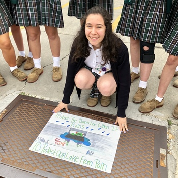 Senior Emily Sotomayor's Artwork Selected as Storm Drain Cover