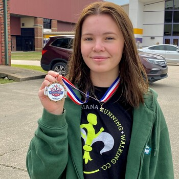Rachael Mipro '21 Wins Gold Medal at LHSCA All-Star Swim Meet