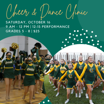 Crescent Cheer and Dance Clinic is this Saturday!