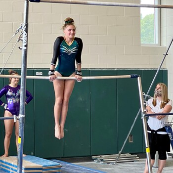 Olivia Montecino '24 Makes History as First Cabrini LHSAA Gymnast