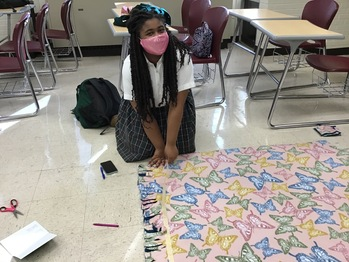 National Honor Society Logs 300 Service Hours for Blanket Drive
