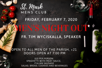 St. Mark Men's Club Men's Night Out