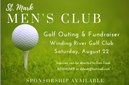 Save the date, Men's Club Golf outing Saturday, August 22