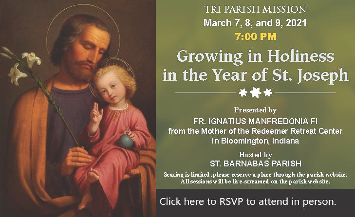 Tri Parish Mission Growing in Holiness in the Year of St. Joseph