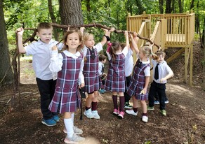 Richland Montessori Light of Christ Academy Catholic Classical Education Private School Richland Augusta Gull Lake Outdoor Classroom