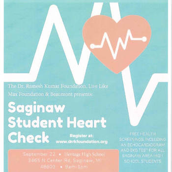 Saginaw Student Heart Check