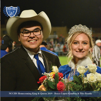 Nouvel Catholic Central Homecoming 2019 King & Queen