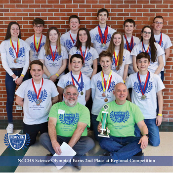 NCCHS Science Olympiad Earns 2nd Place at Regional Competition