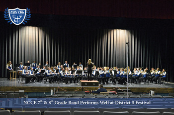 NCCE 7th and 8th Grade Band Excels at Festival Competition
