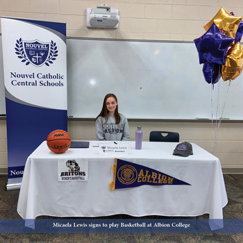 Micaela Lewis Signs to Play Collegiate Basketball