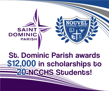 St. Dominic Parish Awards NCCHS Students with $12,000 in Scholarships