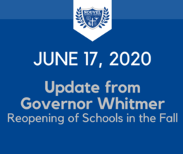 June 17, 2020 - Governor Whitmer Update