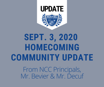 September 3 - Homecoming Update