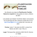 Planificación Natural Familiar * Natural Family Planning Class in Spanish