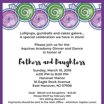 RSVP FOR THE DAD–DAUGHTER DINNER DANCE
