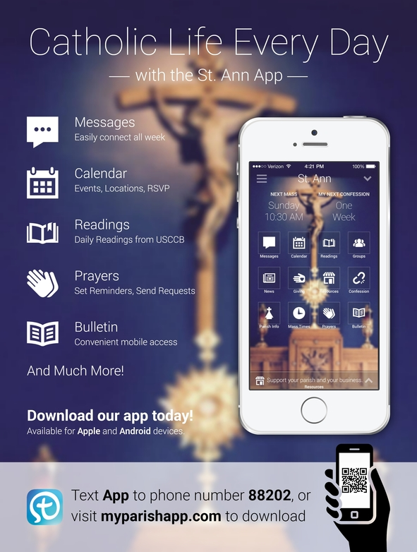 myParish App - St  Ann Parish - Augusta, MI