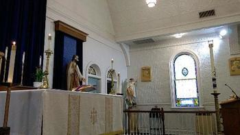 Sunday Mass will be held in the church and continue to be live streamed